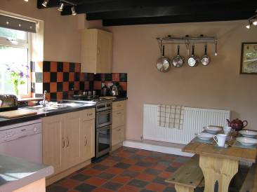 Quarry Tile Kitchen traditional welsh quarry tile flooring and a breakfast table